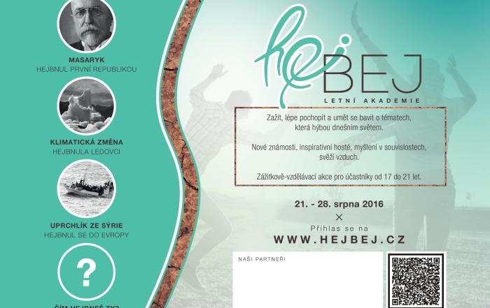 Letní akademie Hejbej, zážitkově vzdělávací akce pro účastníky od 17 do 21 let